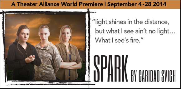 "Opening this September: A Theater Alliance world premiere – ""Spark"""